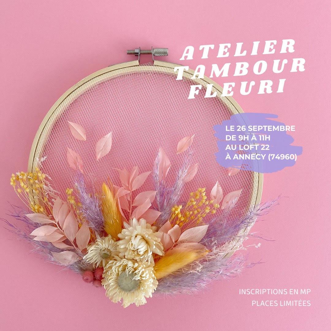 Atelier : Tambour Fleuri